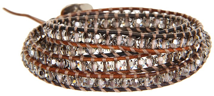 Chan Luu 32' Wrap with Crystal Satin/Saada (Crystal Satin/Saada) - Jewelry