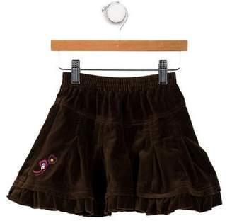Catimini Girls' Velvet Mini Skirt