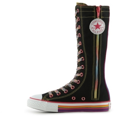 Converse Chuck Taylor All Star Rainbow Girls Toddler & Youth High-Top Boot Sneaker