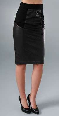 Diane von Furstenberg Adame Leather Skirt