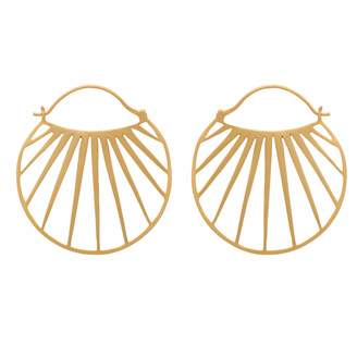 Sunbeam Carousel Jewels - Gold Hoops