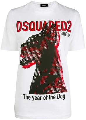 DSQUARED2 dog print T-shirt