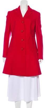 RED Valentino Notch-Lapel Knee-Length Coat