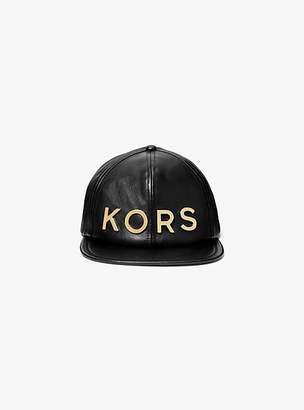 ebb536ccb22 Michael Kors Embellished Leather Hat