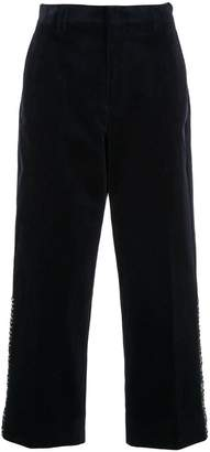 Coohem tweed side panel cropped trousers