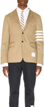 Thom Browne Unconstructed Classic Blazer in Camel   FWRD