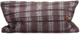 Prada Grey Synthetic Clutch Bag