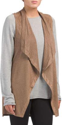 Faux Suede Tunic Vest