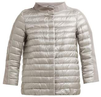 Herno Quilted Down Jacket - Womens - Silver