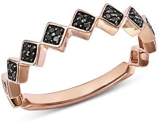 Bloomingdale's Black Diamond Geometric Stacking Ring in 14K Rose Gold, 0.10 ct. t.w. - 100% Exclusive