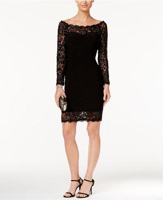 Betsy & Adam Illusion Lace Bodycon Dress $259 thestylecure.com