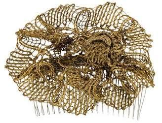 Jennifer Behr Silver-Tone Lace Comb