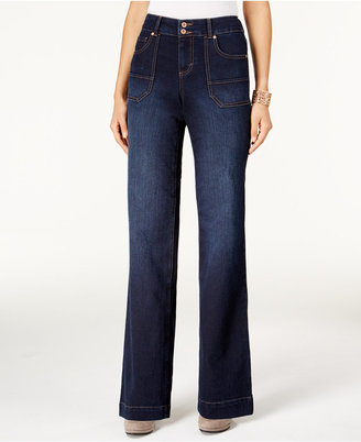 Style & Co. Jewel Wash Trouser-Leg Jeans, Only at Macy's $54.50 thestylecure.com