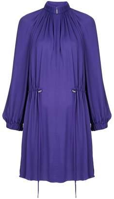 Tibi Georgette short drawstring dress