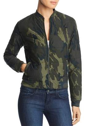 Majestic Filatures Camo Quilted Bomber Jacket