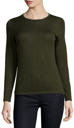 Neiman Marcus Cashmere Collection Modern Superfine Cashmere Crewneck Sweater $175 thestylecure.com
