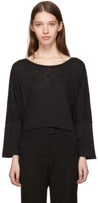 Ann Demeulemeester Black Asymmetric Hem T-Shirt