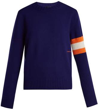 Calvin Klein Contrasting-sleeve cashmere sweater