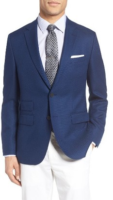 Men's Boss Jet Trim Fit Stretch Wool Travel Blazer $695 thestylecure.com
