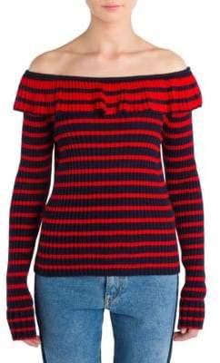 MSGM Ruffle Knit Top
