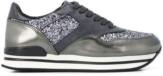 Hogan glitter lace-up sneakers