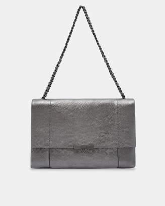 Ted Baker GLAYYA Metallic leather soft grain shoulder bag