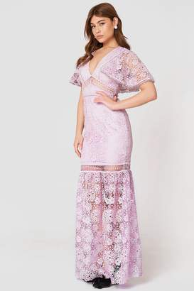 True Decadence V-Neck Maxi Lace Dress