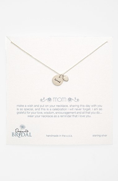 Dogeared 'Mom Loved - Heart' Pendant Necklace (Nordstrom Exclusive)