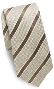 Isaia Stripe Silk Tie