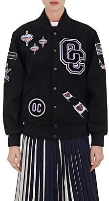 Opening Ceremony Women's Patch Appliquéd Melton Varsity Jacket