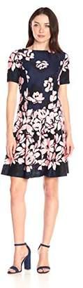 Donna Morgan Women's Short-Sleeve Printed Scuba Dress $132.15 thestylecure.com
