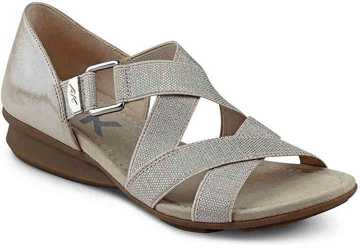 Anne KleinWomen's Kanelle Wedge Sandal -Bronze Metallic
