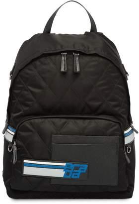 Prada logo quilted backpack