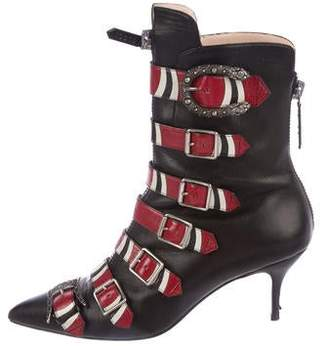 2e6315c0b9b Gucci 2017 Susan Pointed-Toe Ankle Boots