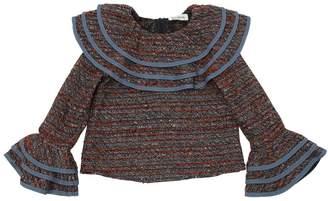 Ruffled Tweed Top