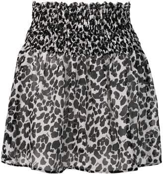 Fisico leopard print mini skirt