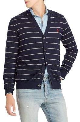 Polo Ralph Lauren Striped Cotton V-Neck Cardigan