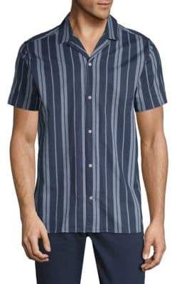 Slate & Stone Striped Short-Sleeve Cotton Button-Down Shirt