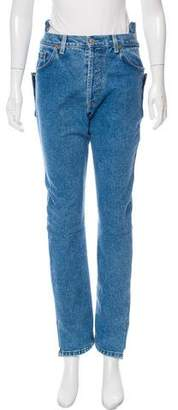 Vetements High-Rise Straight-Leg Jeans