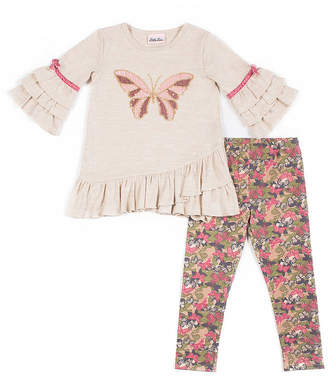 Little Lass 2-pc Butterfly Legging Set-Baby Girls