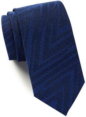 HUGO BOSS Silk Solid Geo Texture Tie $95 thestylecure.com
