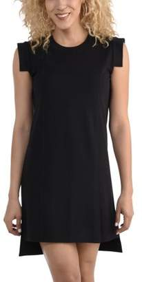 Fruit of the Loom Seek No Further by Women's Pleated Ponte Dress, Available in sizes up to 2XL