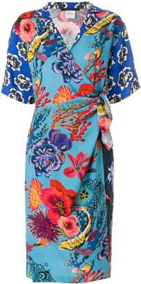 Paul Smith floral print wrap dress