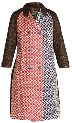 Duro Olowu Patchwork Brocade Double Breasted Coat - Womens - Multi