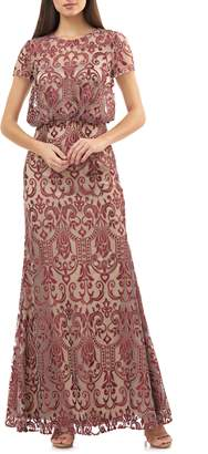 JS Collections Blouson Lace Gown