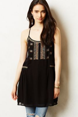 Anthropologie Sassafras Embroidered Tunic