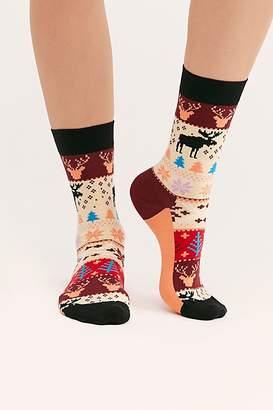 Happy Socks Mountain Moose Fairisle Socks