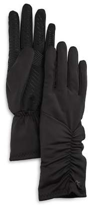 URBAN RESEARCH U/R Ruched Faux Fur-Lined Tech Gloves