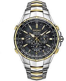 Seiko Men's Two-Tone Radio Sync Solar Chronograph Watch