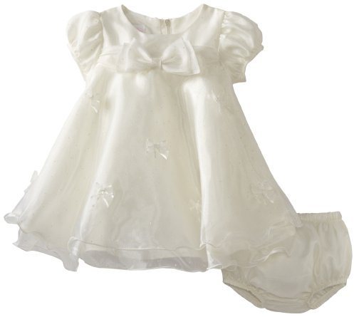 Bonnie Baby Girls Infant Organza Trapeze Dress